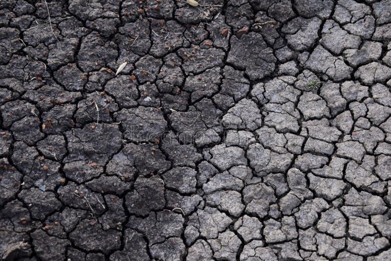 Fond abstrait de sol sec sécheresse Sol sec gris Fond de sol Fond criqué de saleté Modèle de la terre Texture de sol fissure photo stock
