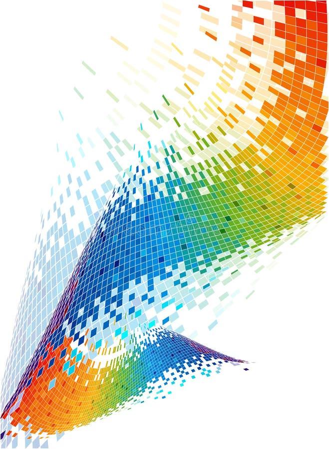 Fond abstrait de spectre. illustration stock