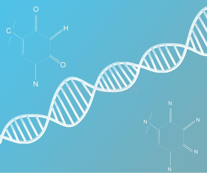Fond abstrait de structure d'acide désoxyribonucléique d'ADN illustration libre de droits