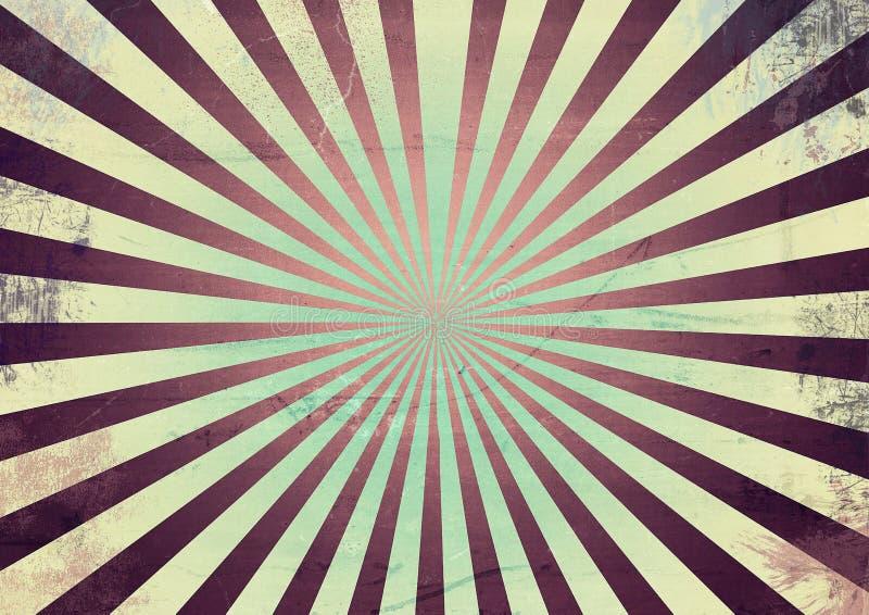 Fond abstrait de Suneburst de vintage illustration libre de droits