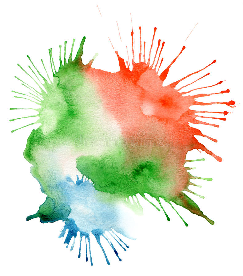 Fond abstrait de tache d'aquarelle illustration de vecteur