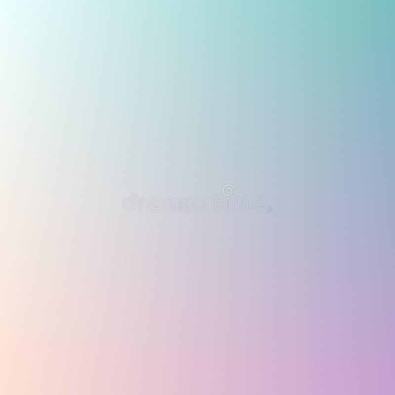 Fond abstrait de tache floue de couleur en pastel de gradient de tendance pour les concepts de construction, le Web, les présenta illustration de vecteur