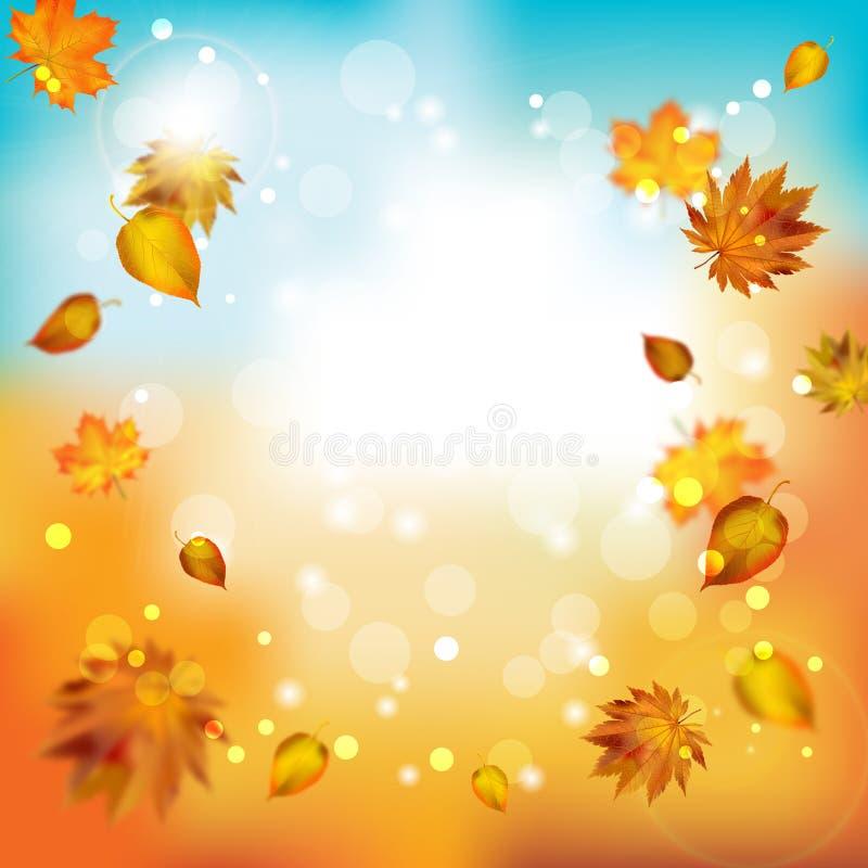 Fond abstrait de tache floue d'automne Vecteur illustration libre de droits