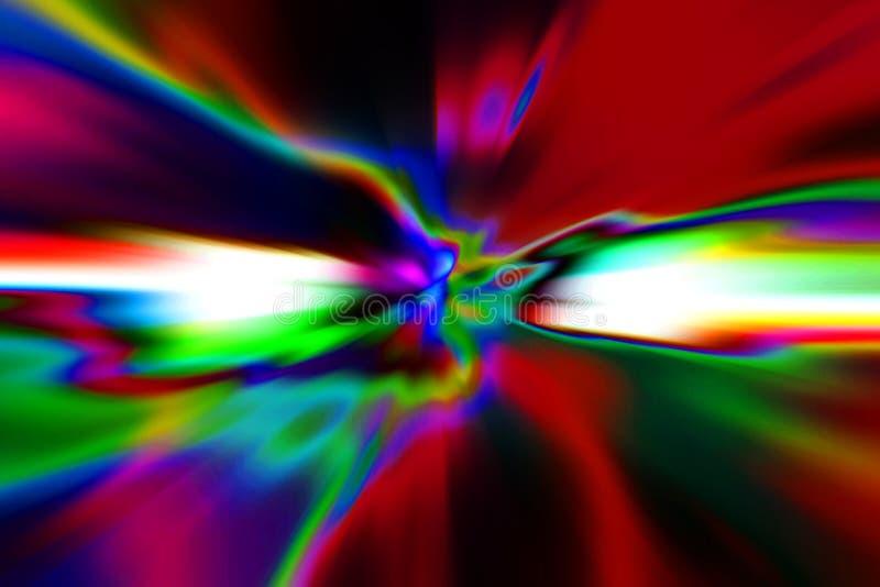 Fond abstrait de tache floue de mouvement Lignes rougeoyantes de la science fiction illustration stock