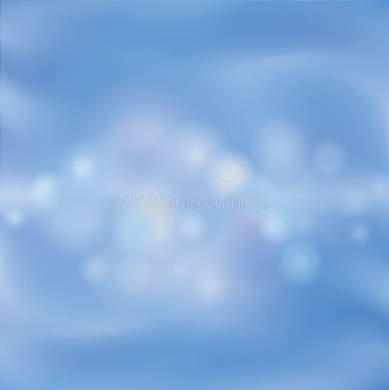 Fond abstrait de tache floue Wallaper de ciel bleu Ondes d'eau illustration libre de droits