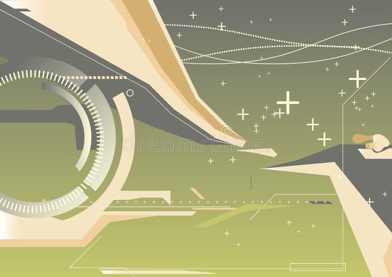 Fond abstrait de techno illustration stock