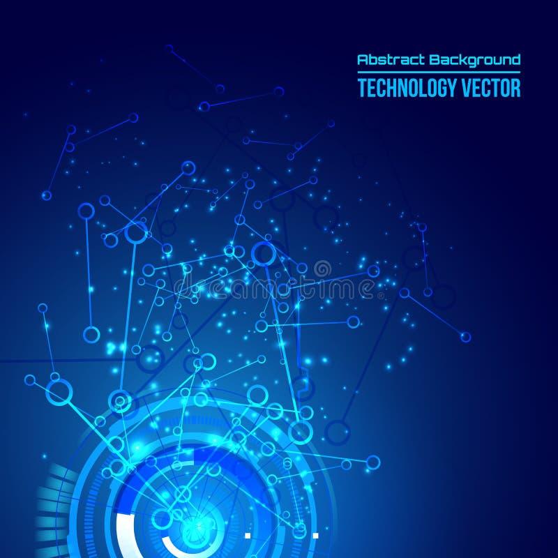 Fond abstrait de techno pour la conception de pointe futuriste - vecteur illustration stock