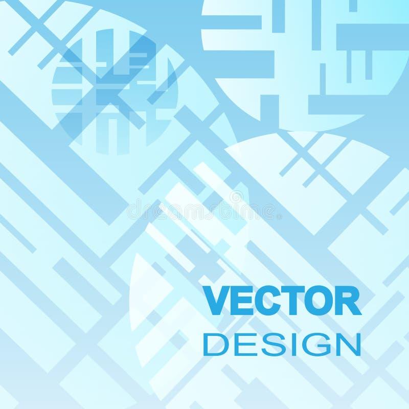 Fond abstrait de techno de vecteur des cercles Fond bleu d'abrégé sur cercle illustration de vecteur