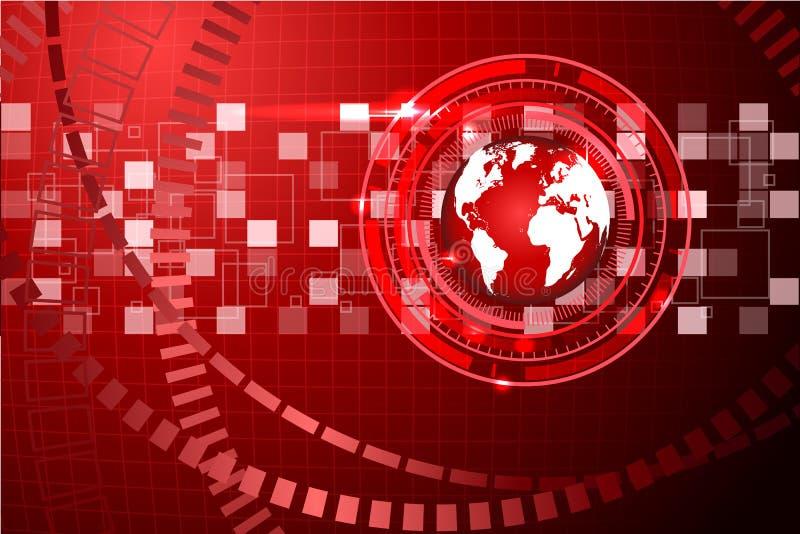 Fond abstrait de technologie avec la grille 2 images libres de droits