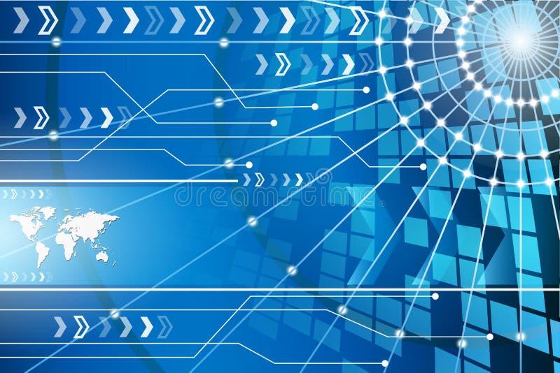 Fond abstrait de technologie avec la grille 1 illustration libre de droits