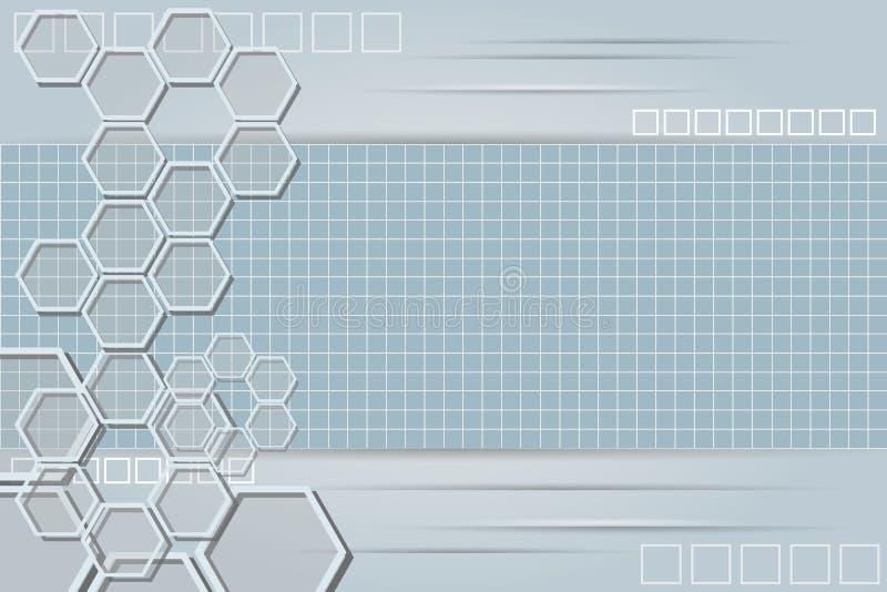 Fond abstrait de technologie avec la grille 4 image libre de droits