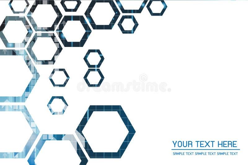 Fond abstrait de technologie avec la grille 6 photo libre de droits