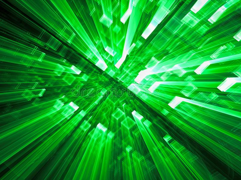 Fond abstrait de technologie avec la perspective - digitalement GEN illustration de vecteur