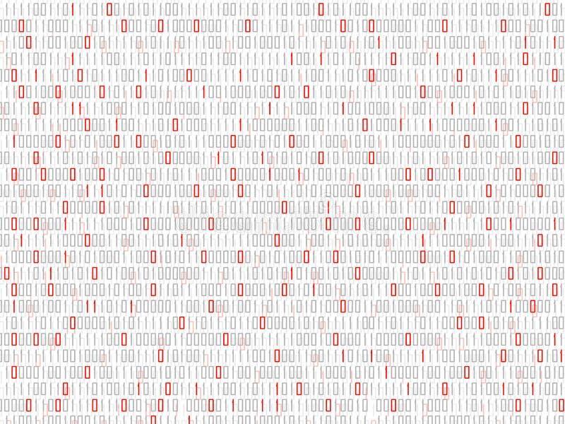 Fond abstrait de technologie avec le code binaire, contexte de matrice illustration libre de droits