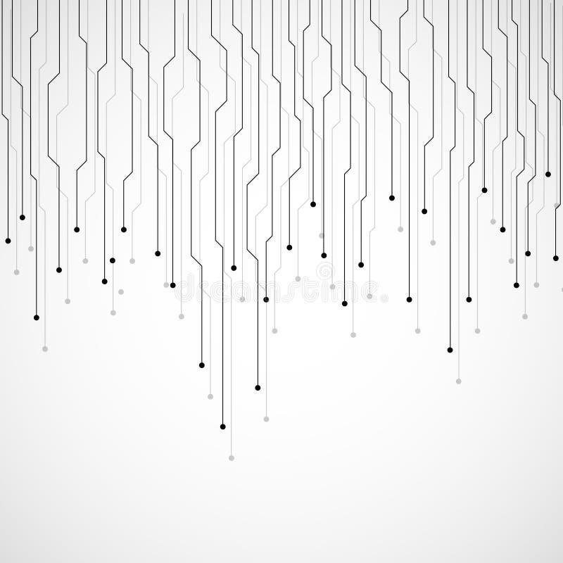 Fond abstrait de technologie, carte illustration stock