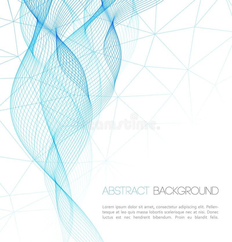 Fond abstrait de technologie conception de calibre illustration stock