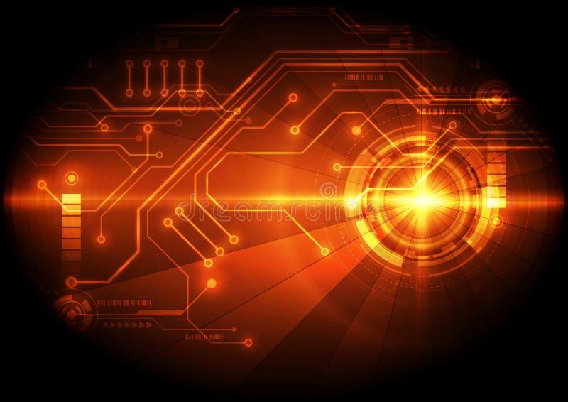 Fond abstrait de technologie de circuit numérique vecteur d'illustration illustration stock