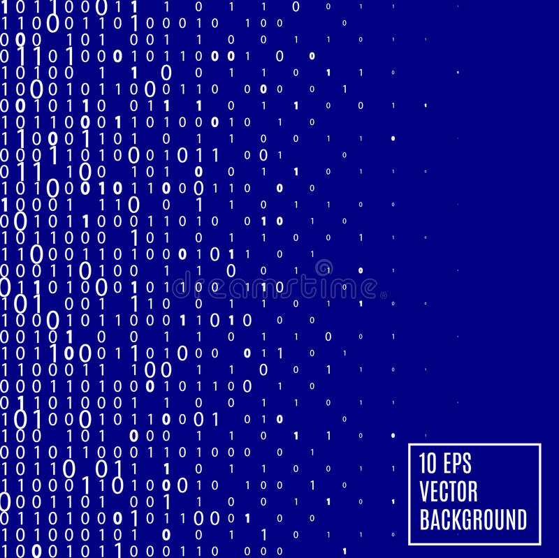 Fond abstrait de technologie de code binaire illustration de vecteur