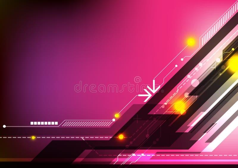 Fond abstrait de technologie de conception illustration de vecteur