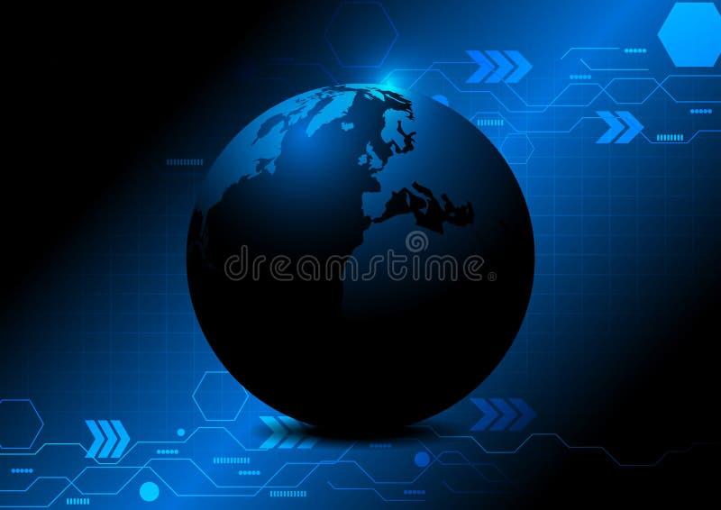 Fond abstrait de technologie de globe quelques éléments de cette image meublés par la NASA illustration de vecteur