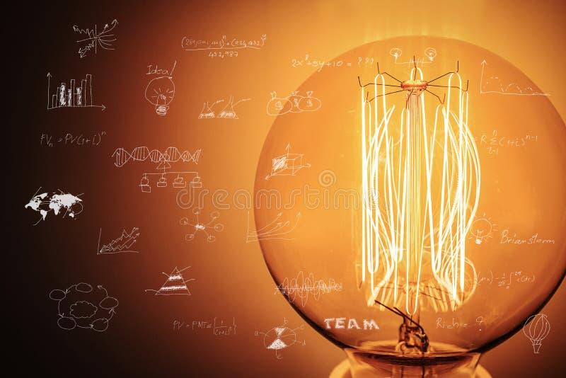 Fond abstrait de technologie, innovateur créatifs, idée et concept de pensée futuriste illustration libre de droits