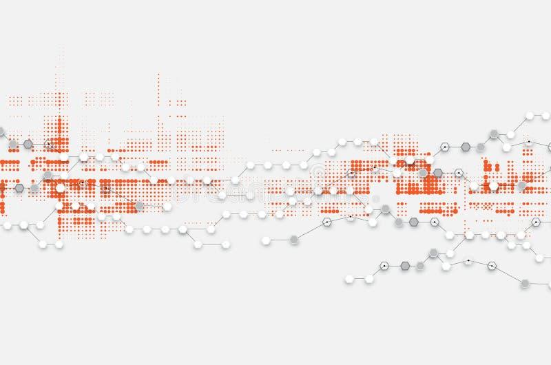 Fond abstrait de technologie Interface futuriste de technologie illustration libre de droits