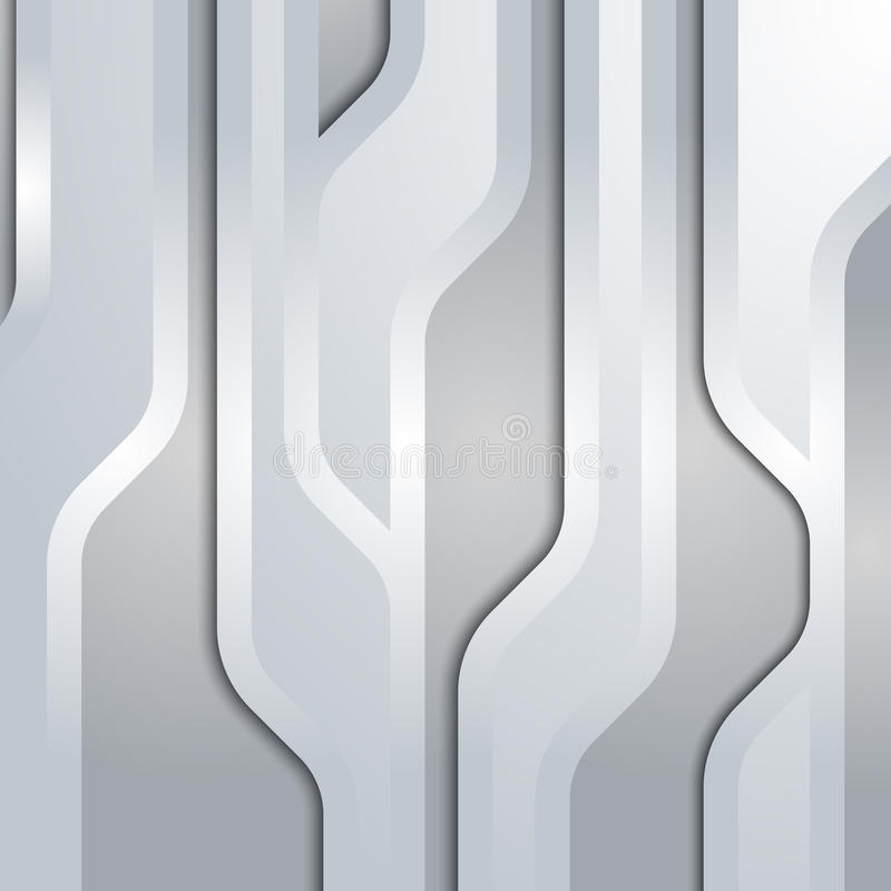 Fond abstrait de technologie. La connexion raye p illustration stock