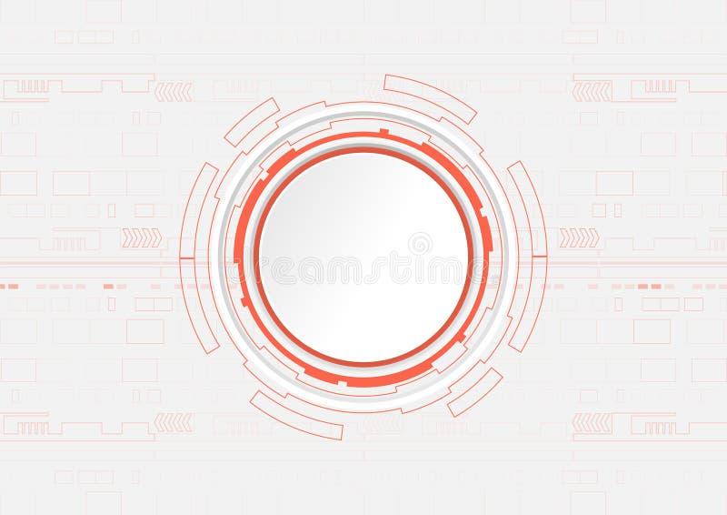 Fond abstrait de technologie numérique, concept de pointe illustration stock