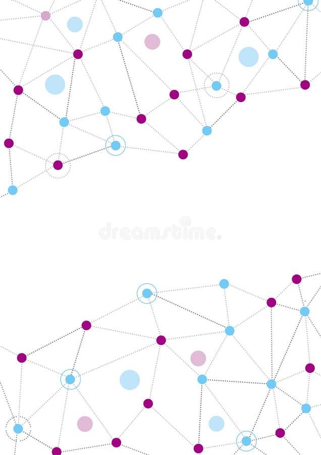 Fond abstrait de technologie ou de science, taille A4 illustration de vecteur