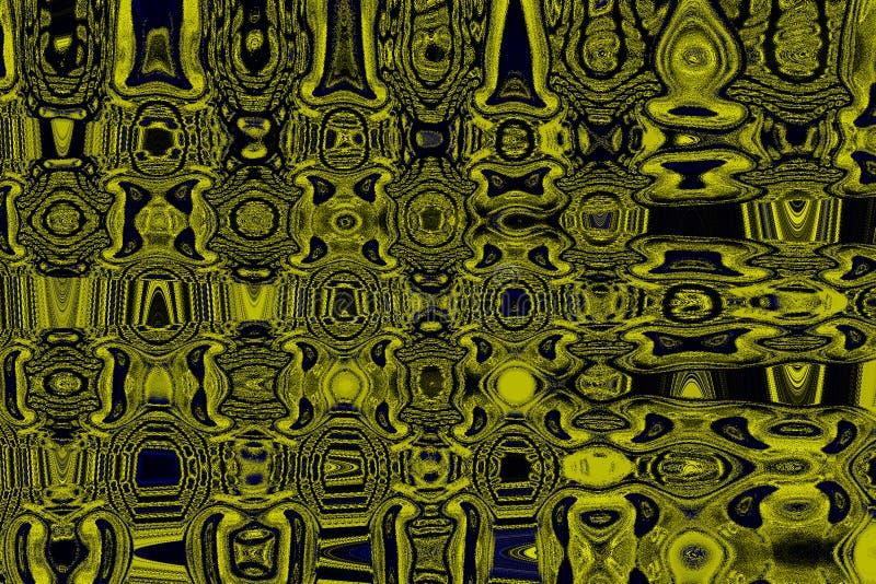 Fond abstrait de teintes jaune-bleues colorées photos stock