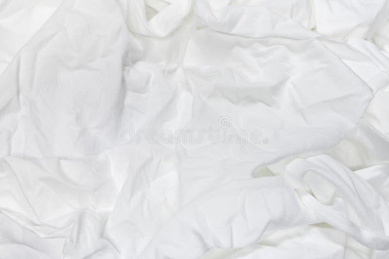 Fond abstrait de texture de tissu Matériel de textile mou chiffonné photographie stock