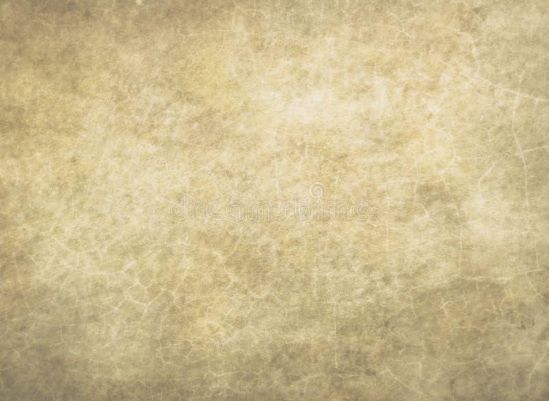 Fond abstrait de texture de vieille de cru de papier de détail surface grunge criquée jaune de modèle photographie stock libre de droits