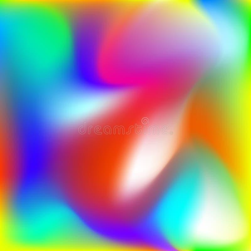 Fond abstrait de torsion, gradient brouillé de maille d'arc-en-ciel, modèle doux pour vous présentation, papier peint de concepti illustration de vecteur