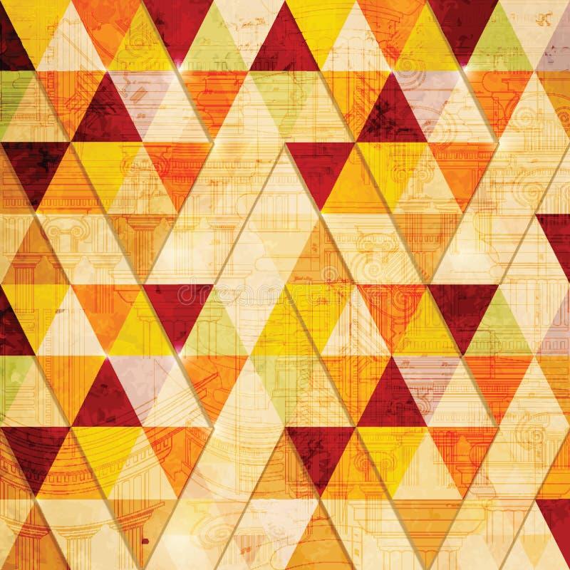 Fond abstrait de triangle. illustration libre de droits