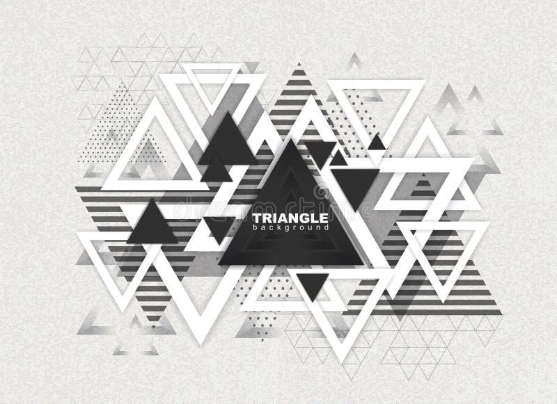 Fond abstrait de triangle de poligon de hippie illustration libre de droits