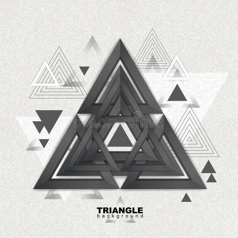Fond abstrait de triangle de poligon de hippie Configuration de triangle illustration de vecteur