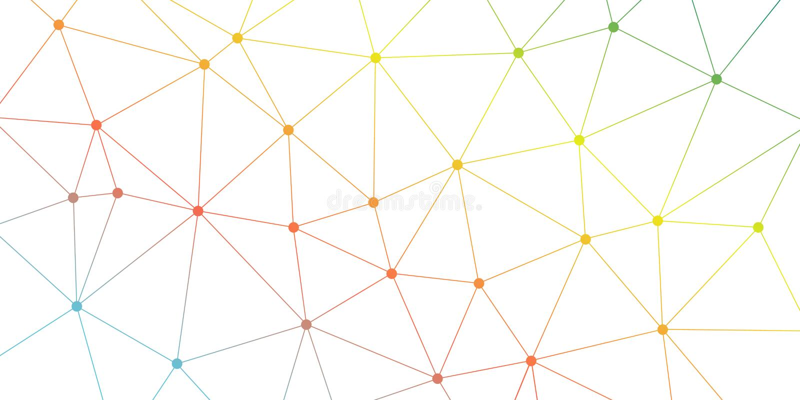 Fond abstrait de triangle de vecteur Modèle polygonal lumineux coloré de réseau Lignes et illustration de connexion de cercles illustration libre de droits