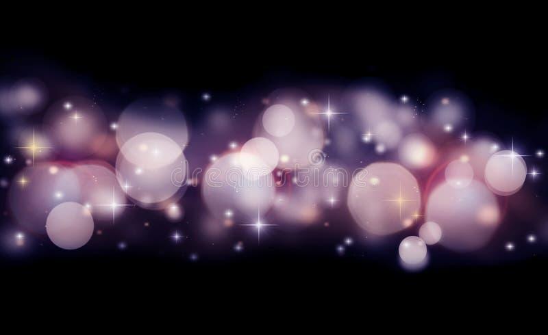 Fond abstrait de vacances des lumières rougeoyantes