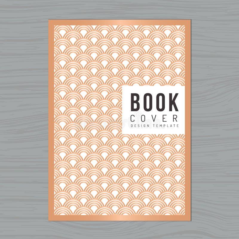 Fond abstrait de vague pour la couverture de livre, affiche, insecte, brochure, calibre de disposition de conception de rapport a illustration stock