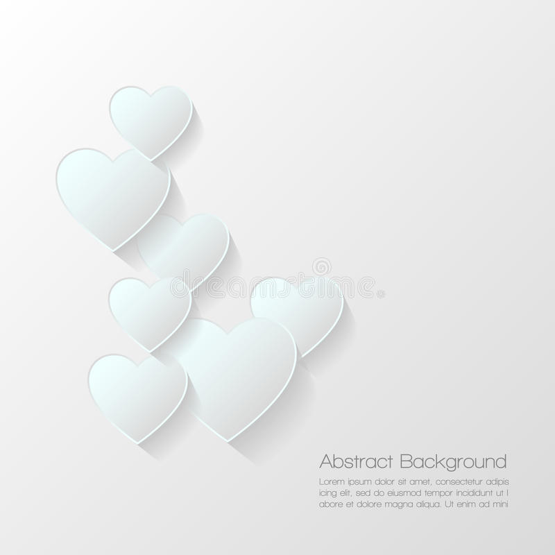 Fond abstrait de valentine illustration stock