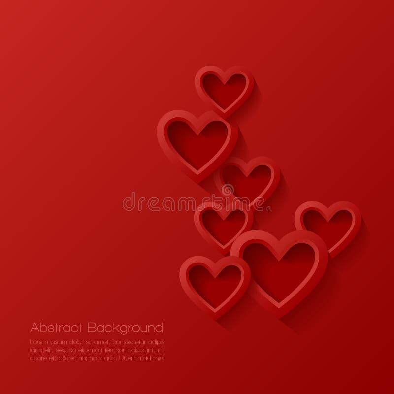 Fond abstrait de valentine illustration de vecteur
