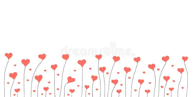 Fond abstrait de valentine avec des coeurs photos stock