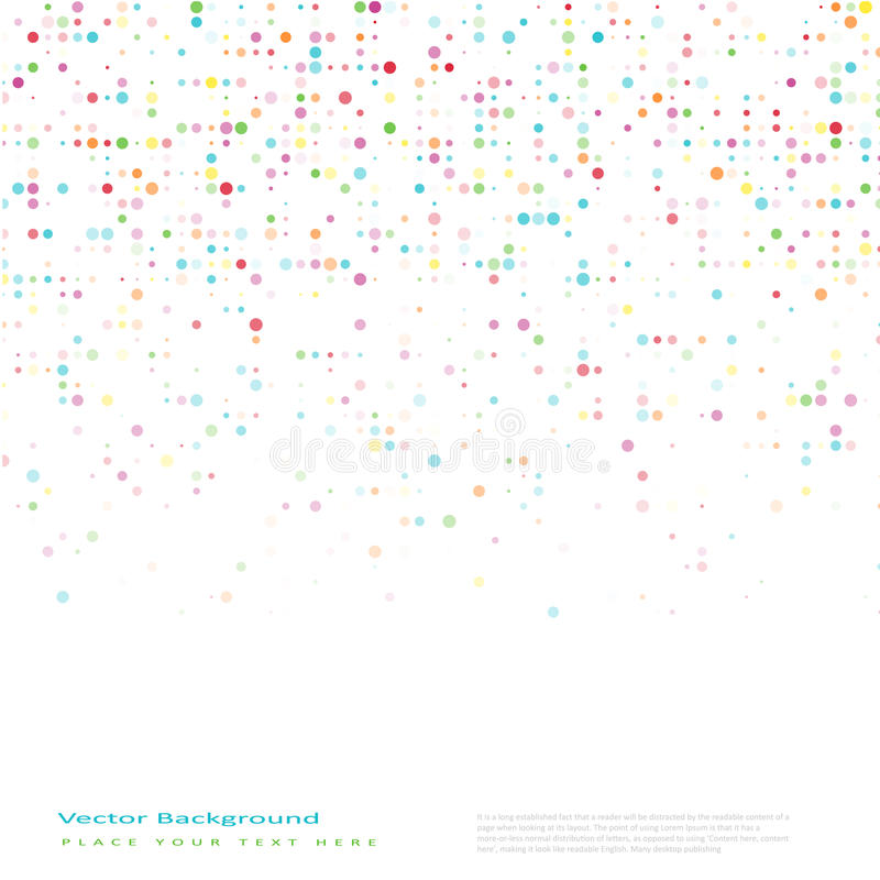 Fond abstrait de vecteur avec des cercles de couleur illustration de vecteur