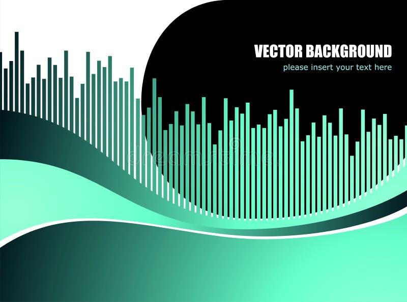 Fond abstrait de vecteur avec la configuration d'onde blanche illustration stock