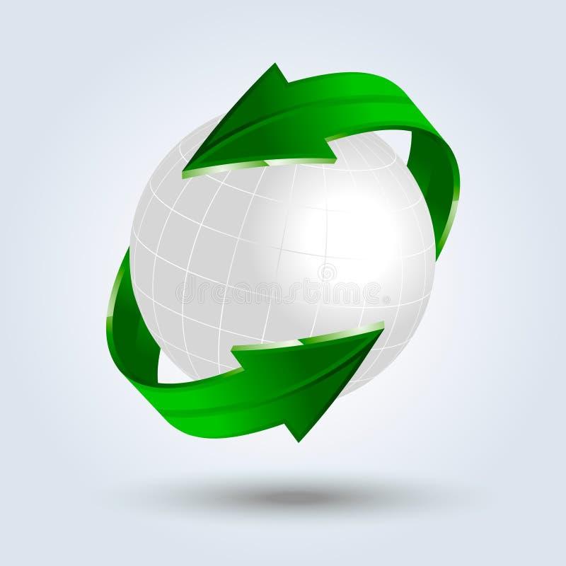 Fond abstrait de vecteur d'eco illustration stock