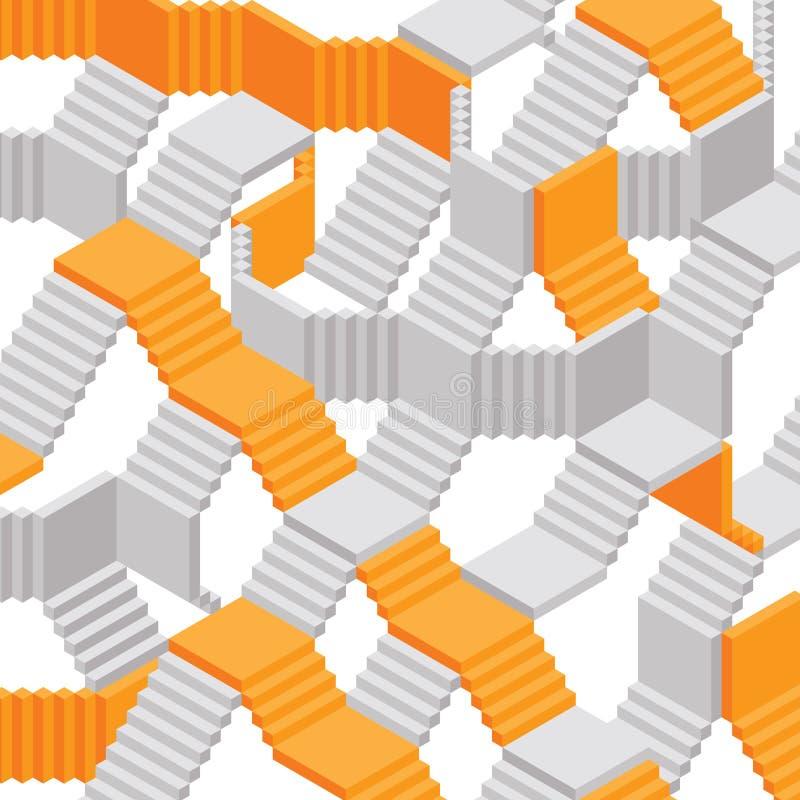 Fond abstrait de vecteur d'escaliers illustration libre de droits