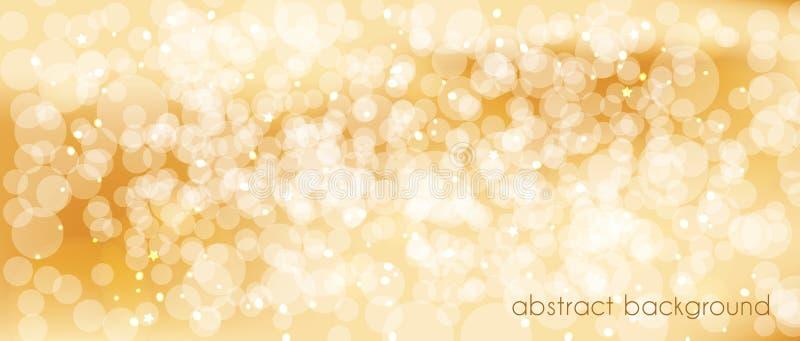 Fond abstrait de vecteur dans des tons d'or Contexte pour décorer l'en-tête du ` s de site, bannière, cartes de vacances, félicit illustration de vecteur