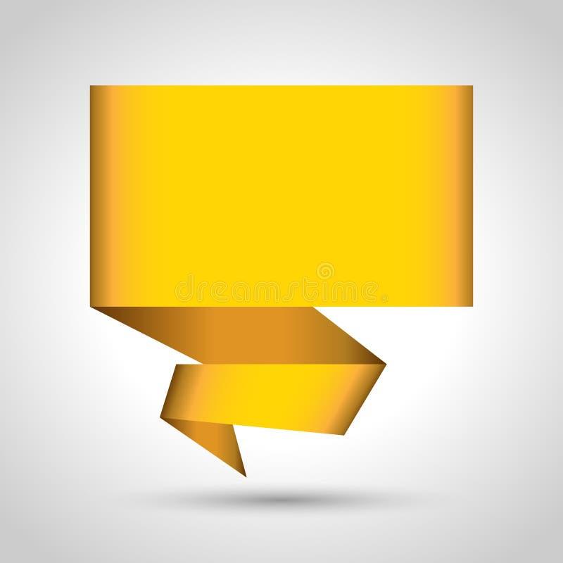 Fond abstrait de vecteur de bulle de la parole d'origami illustration libre de droits