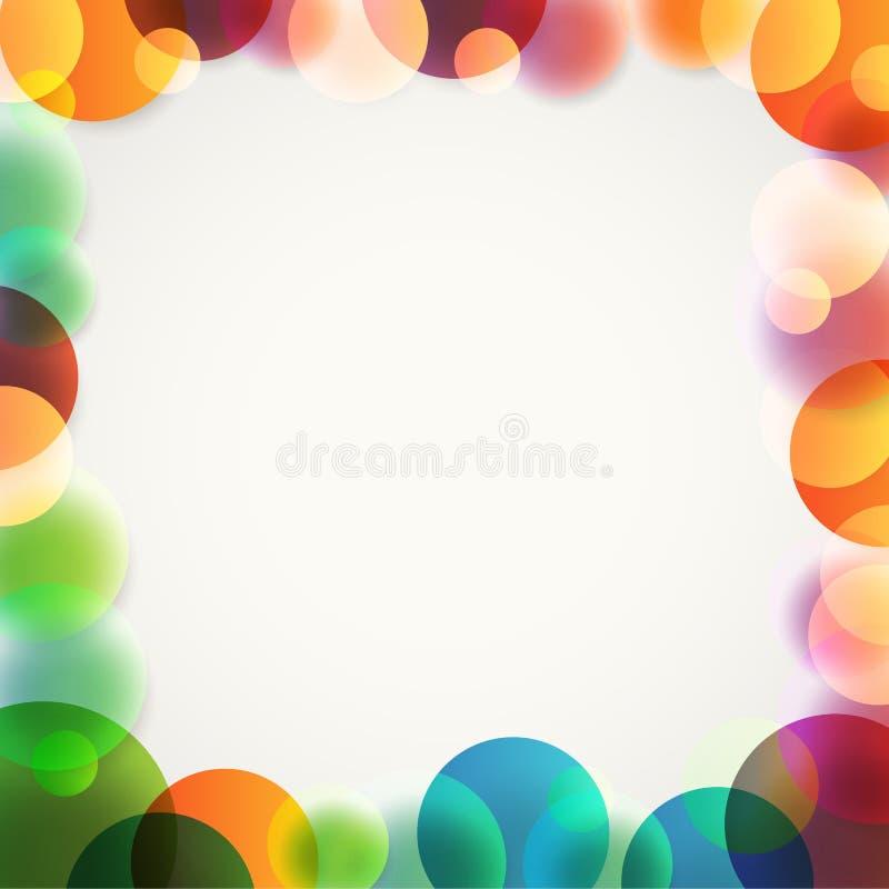 Fond abstrait de vecteur de différents cercles de couleur illustration libre de droits