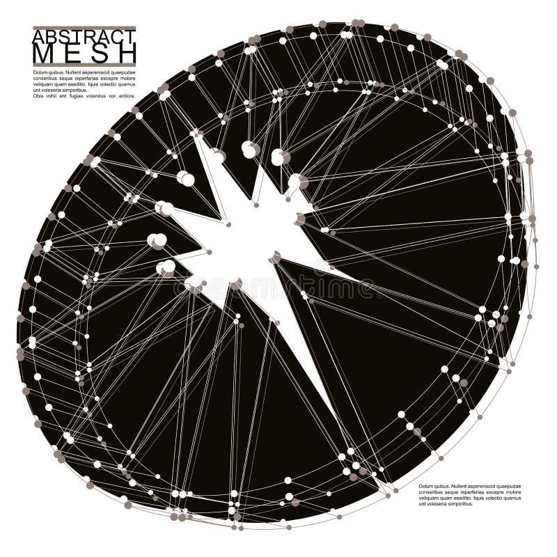 Fond abstrait de vecteur de la maille 3d, illustra conceptuel abstrait illustration libre de droits